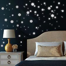 10340 Pegatina Pared Fluorescente copos de nieve ilumina en la noche LUMINOSO