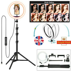 """12"""" LED Ring Light Dimmable Lighting Kit+Tripod Stand Shutter Selfie Lamp Live"""