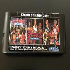 Streets of Rage 3 in 1 Trilogy - Sega Genesis Collection Mega Drive Multi Cart 2