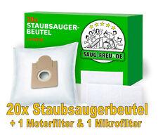 SAUG-FREUnDE 20 Staubsaugerbeutel + 2 Filter für KALORIK S 760,S 764, S765, S779