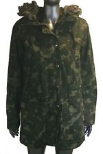 Gap army print hooded jacket, Size Small, Col Green, with lining