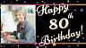 Personalised Happy 80th Birthday Canvas Photo Banner Scene Display Decorations