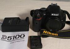 Nikon D D5100 16.2MP Digital SLR Camera Black Body. Near Mint ONLY ~3341shots.