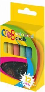 White & Coloured Non Toxic Chalks, Pavement Chalks Kids Art & Craft Fun