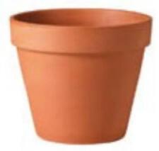 Deroma 01350FZ 14-Inch Terra Cotta Clay Pot - Quantity 3