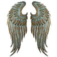 Beautiful Gold Patina Angel Wings Iron Wall Sculpture Decor,12.5'' x 36''H.