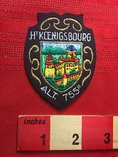 FRANCE Château du Haut-Kœnigsbourg Patch French Souvenir - Medieval Castle 74Q7