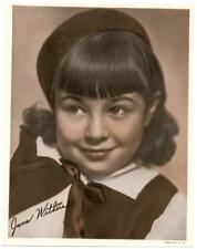 1932 Promo Photo Jane Withers Color Movie Studio Child Actress Singer Joy Smythe