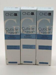 (3) CND Cuticle Eraser Gentle Exfoliator 0.5 fl oz EACH New. Free Shipping