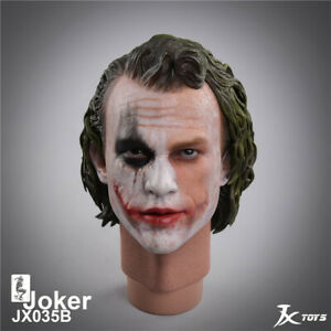 JXTOYS-035B 1/4 Batman Dark Knight The Joker Clown Head Carving  Model Toys