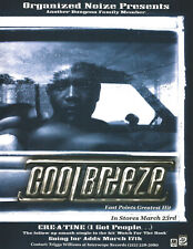 Dungeon Family COOL BREEZE RARE 1999 Cre a Tine TRADE AD Poster for Hits CD MINT
