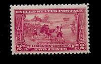 US 1925 SC# 618 2 c Sesquicentennial Mint NH - Vivid Color - Centered