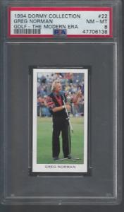 1994 Greg Norman Card PSA 8 Dormy Collection Golf The Modern Era # 22