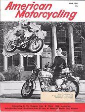 AMERICAN MOTORCYCLING MAGAZINE JUNE 1961 (VG) BSA'S 20TH ANNIVERSARY