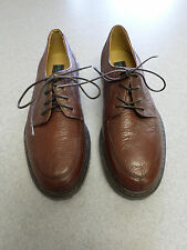 G.H. Bass brown textured leather oxfords.  Men's size 8.5 M