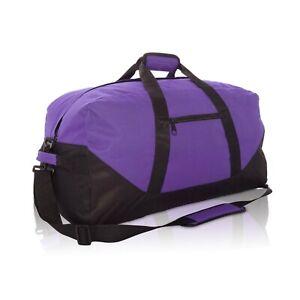 "DALIX 21"" Duffle Bag Sports Gym Bag Traveling Bag in Purple Duffel Sack"