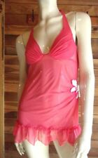 VICTORIA'S SECRET DARK PINK SIZE 34 B BABYDOLL NIGHTGOWN   #6448