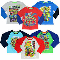 Teenage Mutant Ninja Turtles T-Shirt TMNT Boys Long Sleeve Top Ages 2-8 Official