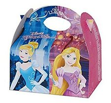 8 Disney Princess Food Boxes Picnic Carry Meal Box Kids Birthday Party Bag Plate