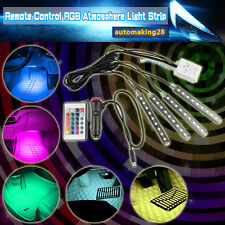4x9 LED Colorful RGB Car Interior Neon Light Footwell Cigarette Lighter Decor US