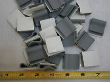 """Richco CFCC-8-04A-RT Flat Cable Clamps Adhesive 1"""" Wide PVC Grey Lot of 25 #4429"""