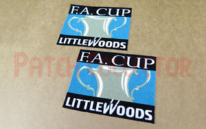 FA Cup Final Littlewoods 1996-1998 Soccer Patch / Badge
