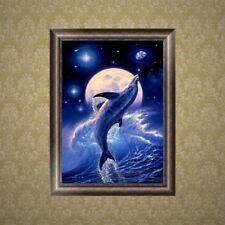 Dolphin Diy 5D Diamond Embroidery Rhinestone Painting Cross Stitch Decoration
