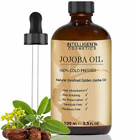 Golden Jojoba Oil - 100% Cold Pressed - Certified Organic Pure & Natural 100ml
