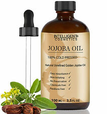Jojoba Oil Golden 100% Cold Pressed Certified Organic Pure & Natural Jojoba Oil