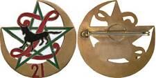 21° Bataillon de Zouaves, émail, retirage, pastille ronde pleine(Mourgeon)(5739)