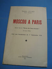 FREDERIC ECCARD MOSCOU A PARIS 1936 BOLCHEVISME COMMUNISME PROTESTANT ALSACE