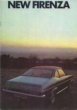 Vauxhall Firenza 1159 1600 2000 1971-72 Original UK Sales Brochure No. V2027