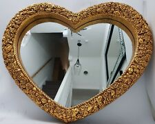 Heart Shape Traditional Antique French Style Large Gold Wall Mirror Shabby Chic