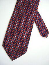 "Perry Ellis Portfolio Men's Silk Geometric Neck Tie Brown 3-7/8"" x 59"""