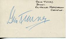 GENE TUNNEY BOXER HEAVYWEIGHT BOXING CHAMPION LEGEND SIGNED CARD AUTOGRAPH