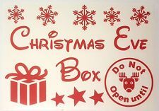 Christmas eve box in red vinyl decal sticker disney font 200mm x 130mm A5