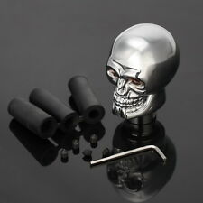 Manual Gear Shift Knob Shifter Skull Head Levers Handle Stick With Red LED Light