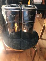 Mid century modern Canette 4 piece cannister set. Flour sugar coffee and tea. Ni