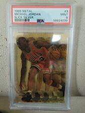 1995-96 Fleer Metal Slick Silver Michael Jordan #3 PSA 9 Mint  New Grade