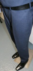 Chester Barrie, Birdseye Blue Suit Trousers 38S
