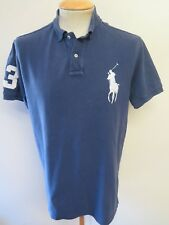 """Genuine vintage Ralph Lauren Men's blue polo shirt taille L 42-44"""" Euro 52-54"""