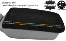 YELLOW STITCH REAL SUEDE ARMREST LID COVER FITS SUBARU FORESTER SG9 2006-2008