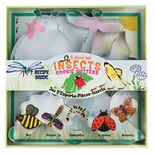 Fox Run 36009 Insect Cookie Cutter Set, Tin-Plated Steel, 5-Piece  BNIP