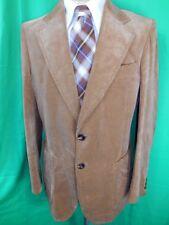 Vintage 1970s McGregor Light Brown Velvet Jacket Formal Prom Tuxedo Style 38-39