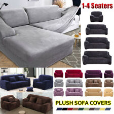 Sofa Couch Cover 1/2/3/4 Seater Plush Stretch slipcover Furniture Protector UK