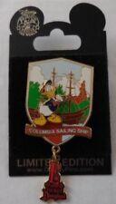 Disneyland Support de Badge E Billet Collection Columbia Voile Vaisseau Donald