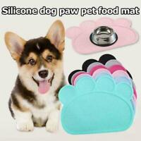 Dog Puppy Paw Shape Placemat Pet Cat Dish Feeding Mat Wip PVC New Food L1Q4