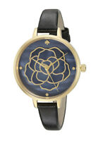 NEW Kate Spade New York KSW1182 Metro Women's Black Leather Strap Watch NO BOX