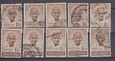 India Mahatma Gandhi 1948 Half Anna Used x 10 Stamps