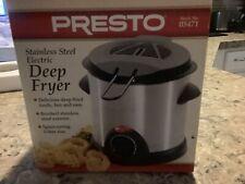 Presto Stainless Steel Electric Deep Fryer, Model #05471, NEW In Box
